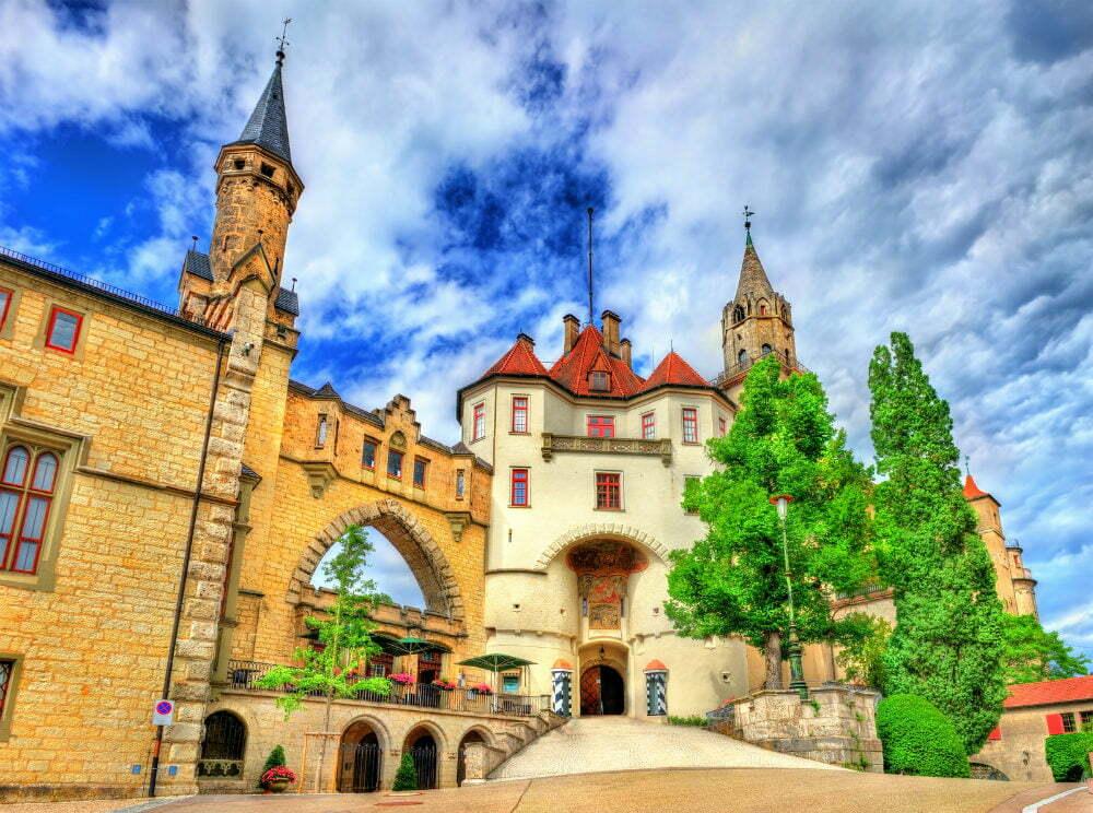 Schloss Sigmaringen Castle on Cliff in Germany