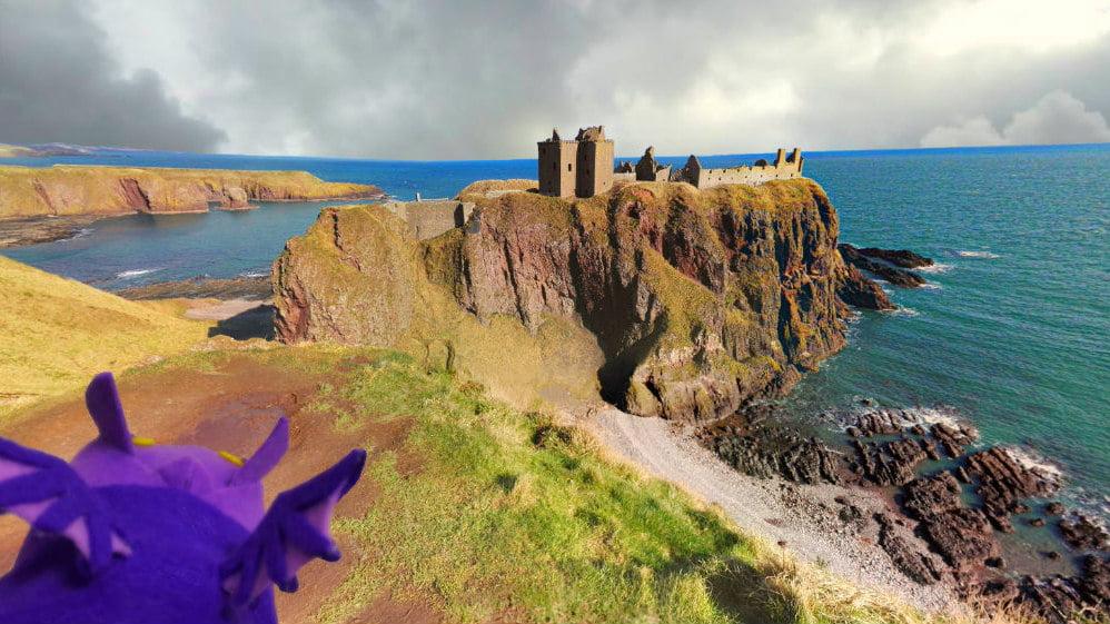 Dunnottar Castle on Cliff Scotland