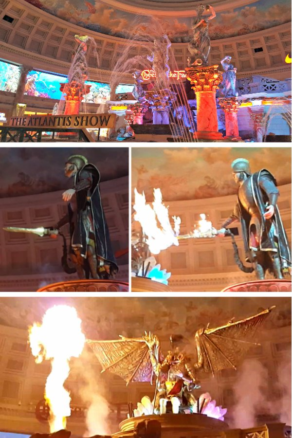 Fall of Atlantis Show at Caesars Palace - Best Free Shows in Las Vegas