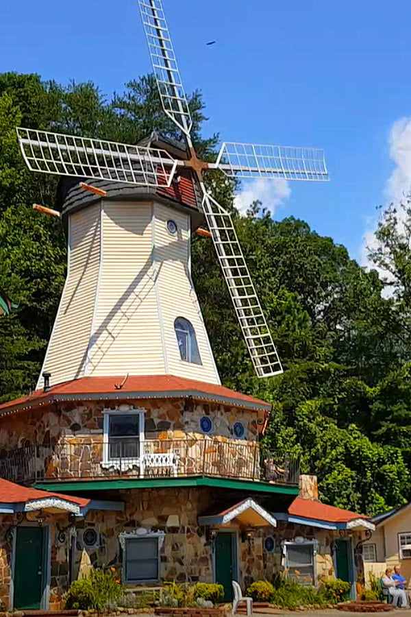 Windmill in Helen GA at Heidi Motel and Windmill Suites
