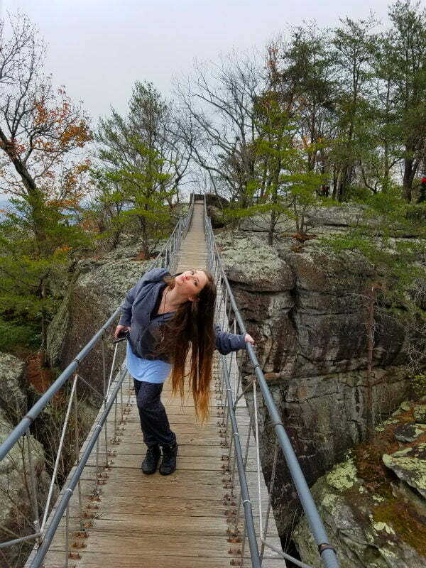 Swing-a-Long Bridge at Rock City in Lookout Mountain, GA near Chattanooga, TN