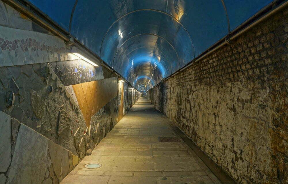 Riomaggiore Train Station Tunnel Walk to Cinque Terre