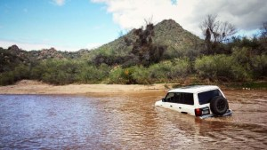 Mitsubishi Montero water crossing