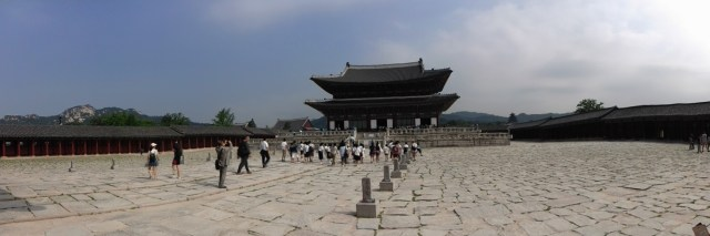 Gyeongbokgung Palace was just a few steps away from our doorstep!