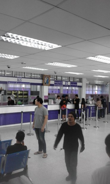 Interior of Thai Drivers License office