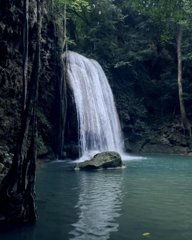 Pha Namtok waterfall Erawan National Park, Thailand