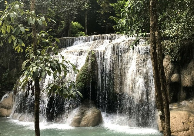 Wang Macha waterfall, Erawan National Park, Thailand