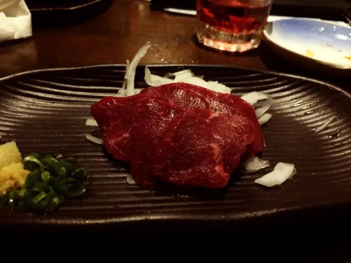 Horse Sashimi japan