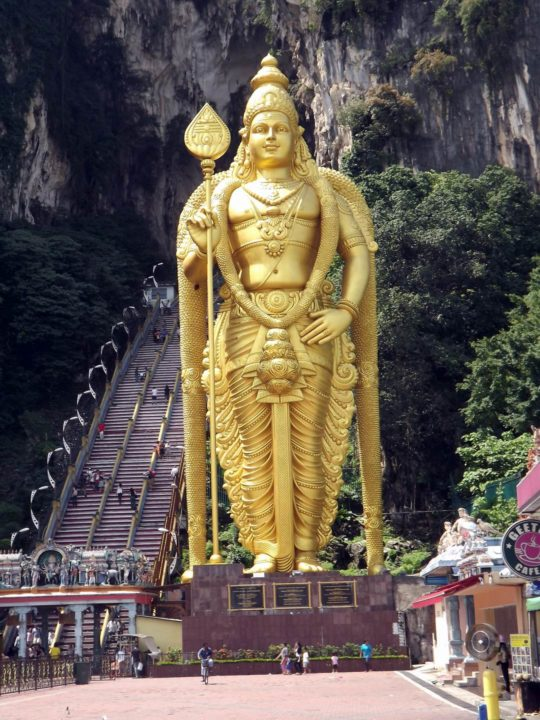 Entering the Batu Caves