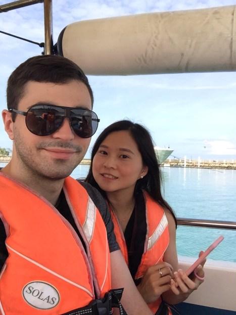 Taking the boat to Sapi Island