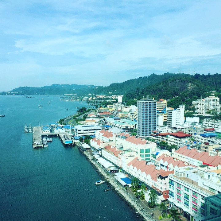 View from the Four Points Hotel in Sandakan