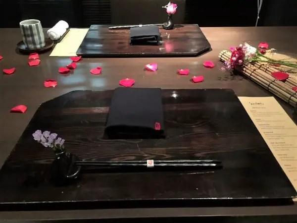 Shintori romantic table arrangement