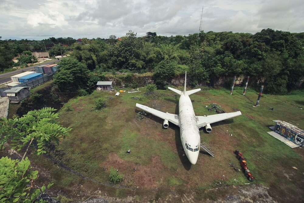 Abandoned airplane bali indonesia