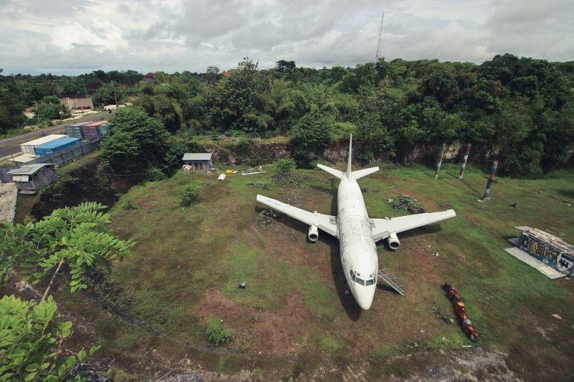 Abandoned airplane bali indonesia