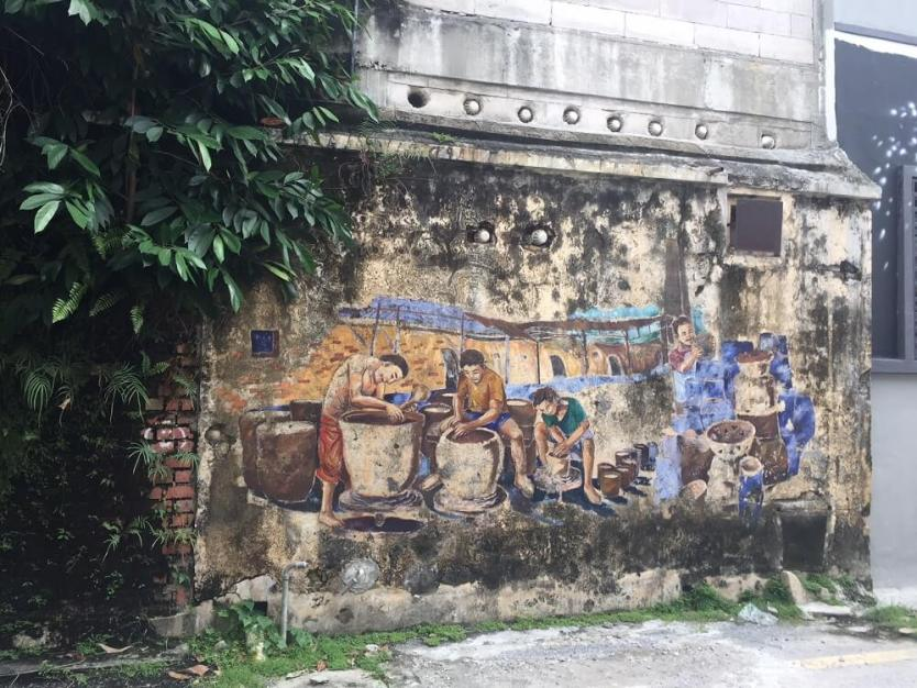 pottery makers street mural