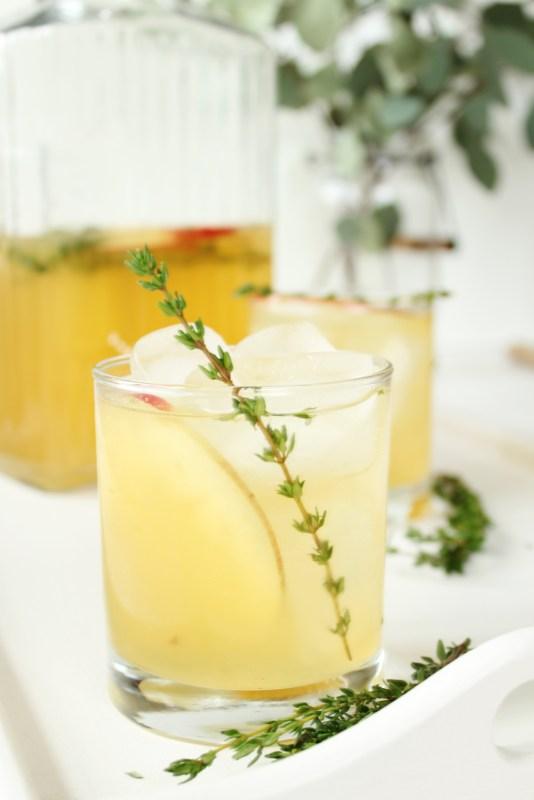 sparkling cider mocktails