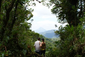 Volcano Viewing from Santa Elena Cloud Forest Reserve.