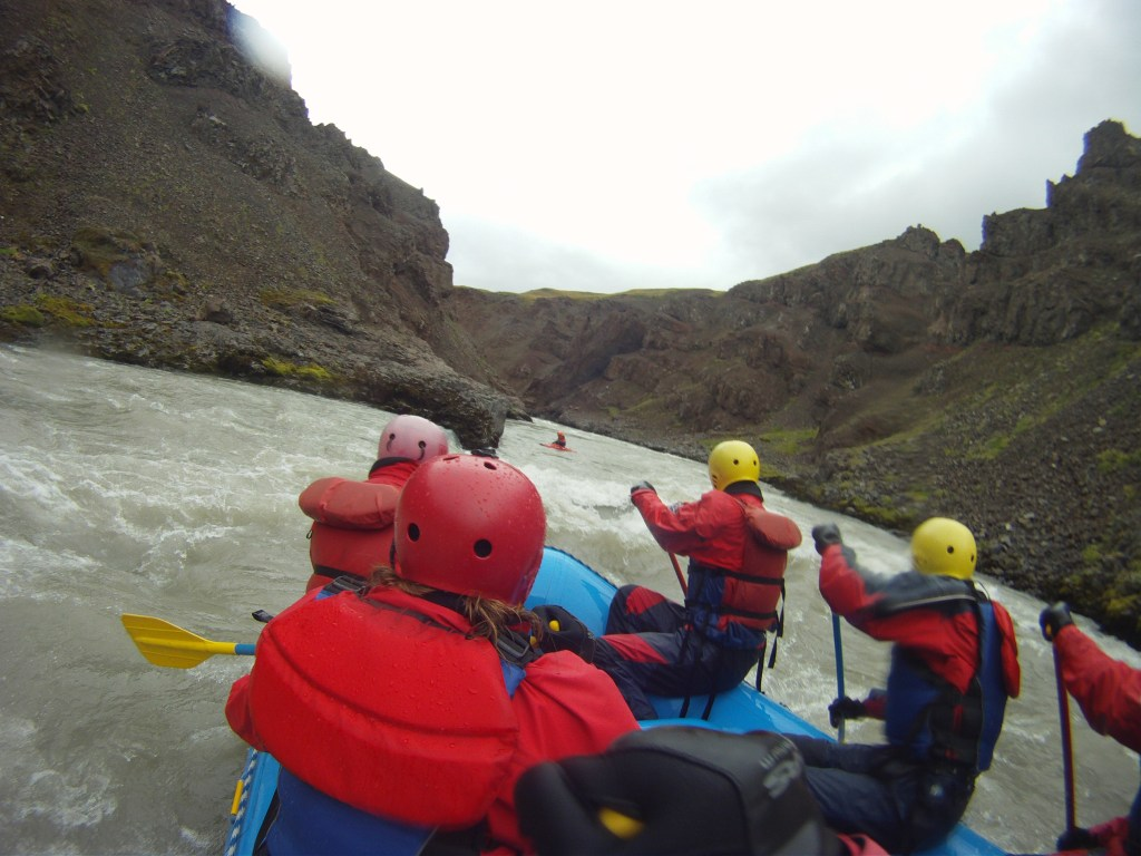 River rafting in Iceland!
