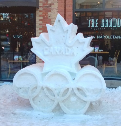 Snow sculpture in the Byward Market.