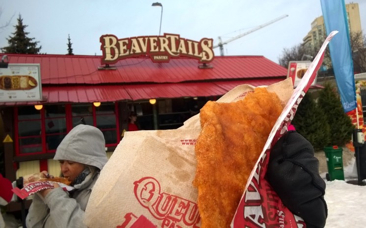 Enjoying a Beavertail pastry on the canal.