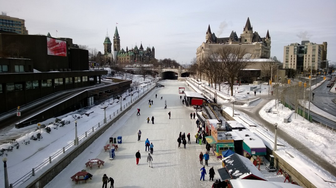 Skating on the Rideau Canal.