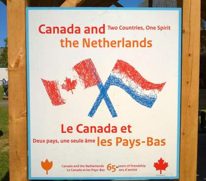 Canada & The Netherlands flags