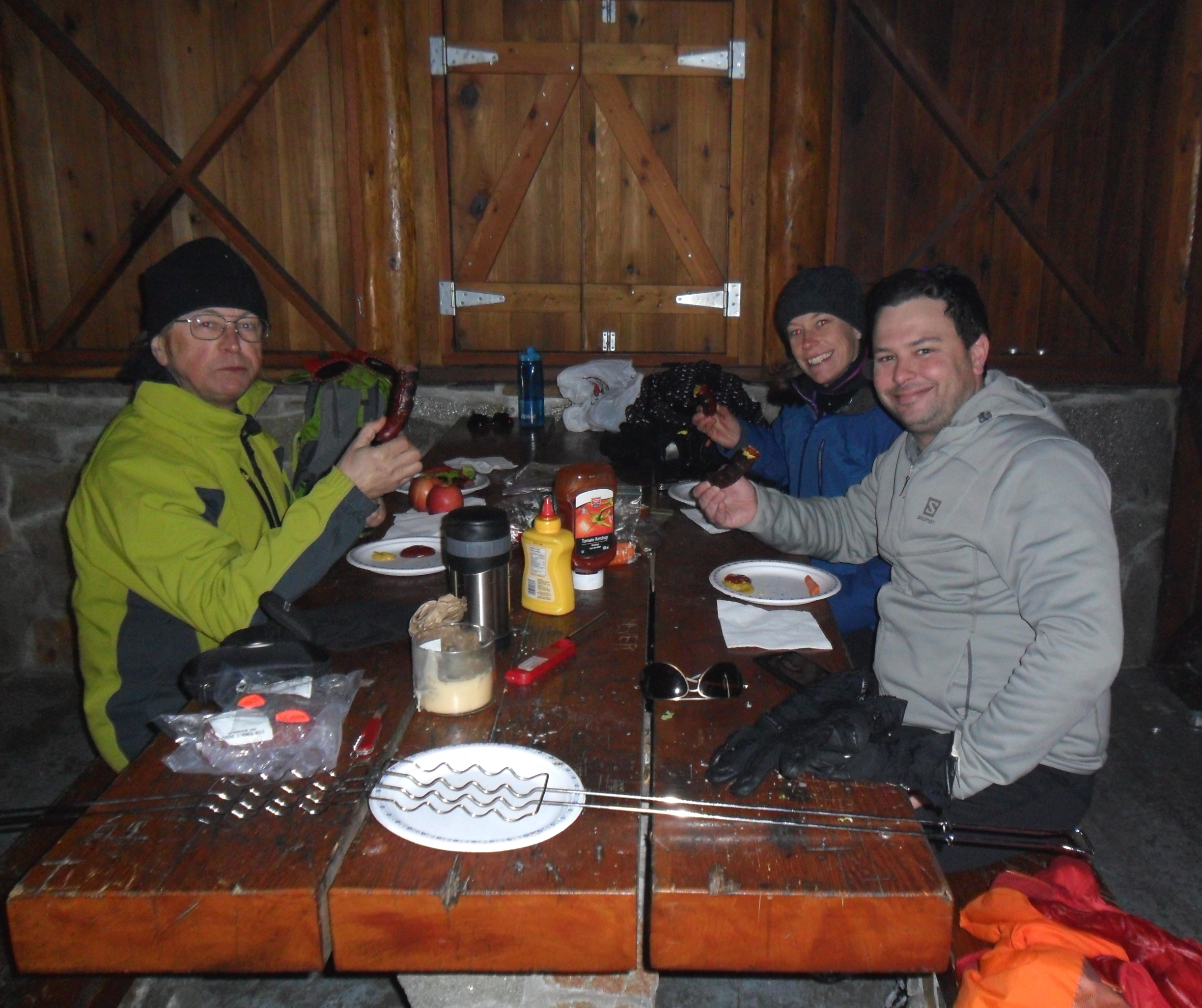 Hot lunch in the cabin