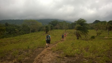 Hiking up to cloud covered Marderas Volcano