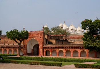 The grounds of the fort.