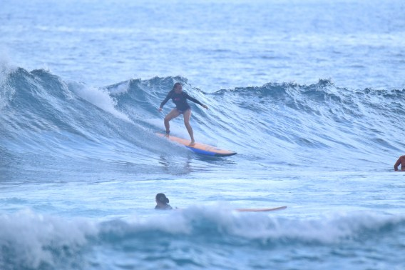 Learning to surf in Bali