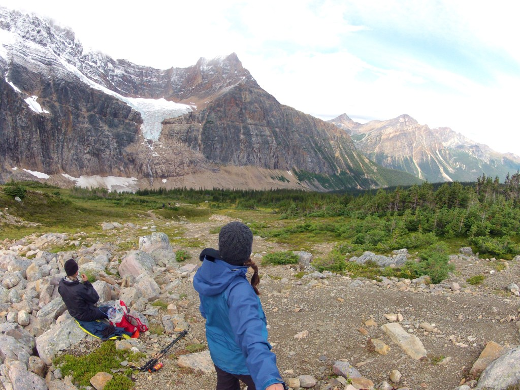 Lunch time views in front of Mt Edith Cavell.