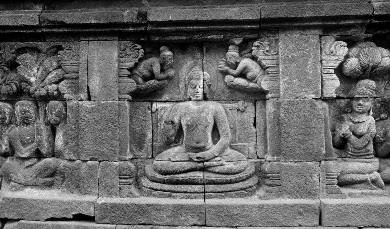 One of the many Buddha carvings.