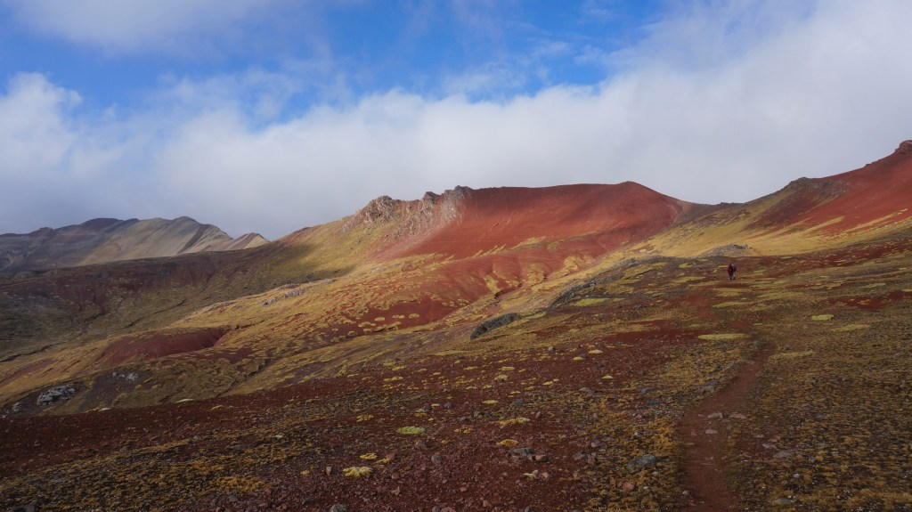 Almost at Rainbow Mountain.