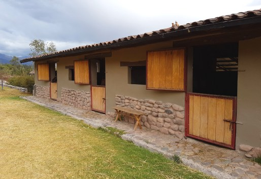 Horse stalls at the hacienda.