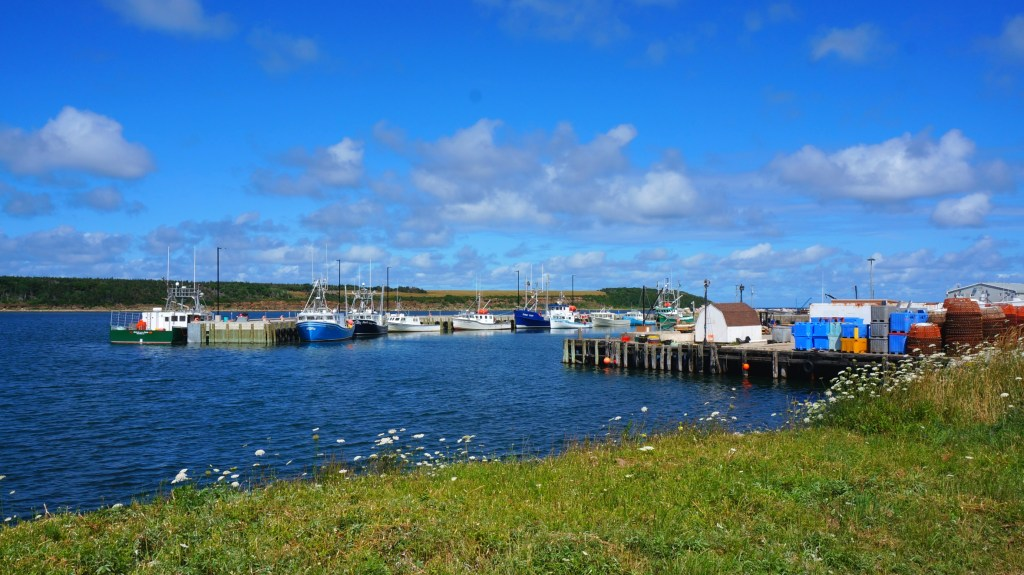 One of the many small fishing villages on Cape Breton Island.