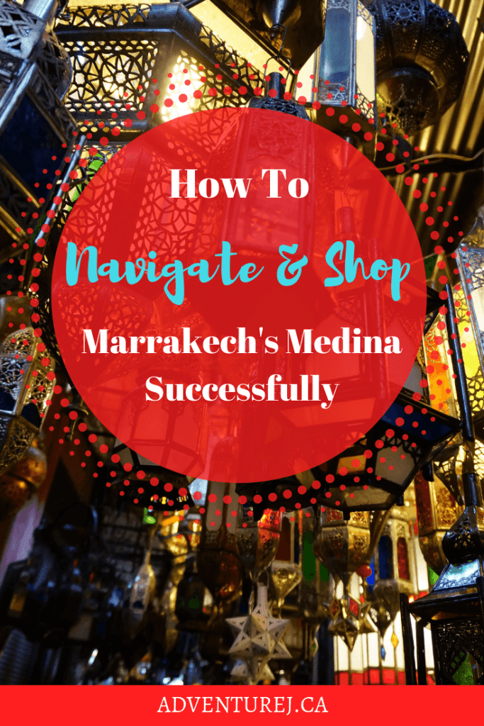 Figuring out how to navigate the medina and negotiate with shop owners has a bit of a learning curve. Follow these tips for a successful experience! #traveltips #travel #Morocco #marrakech #medina #shopping #shoppingtips #worldtravel #adventure #howto #wanderlust