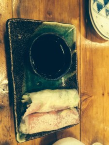 Yellow Fin Tuna and Wasabi Rice Paper Rolls at Hanoi Hannah in Prahan