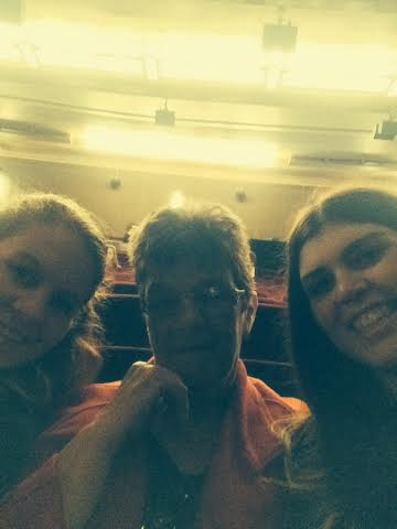Nan, my cousin and I at Her Majesty's for Les Mis