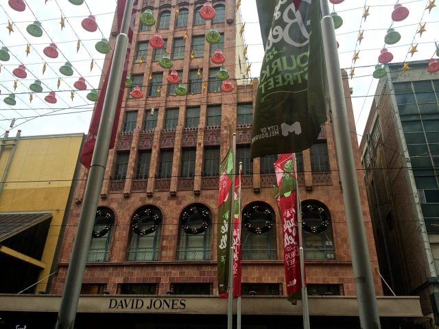 David Jones Building all Decorated for Christmas