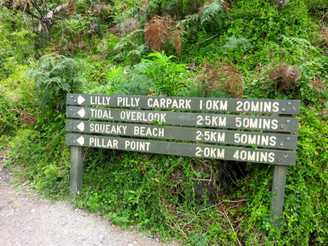 A sample of some of the trails at Wilson's Promontory National Park
