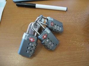 nest of TSA locks == too much travel