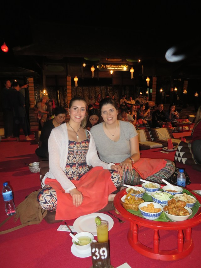 At our Khantoke Dinner in Chiang Mai