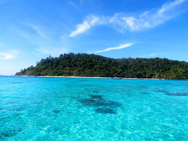 The view from our snorkelling trip from Ko Lanta
