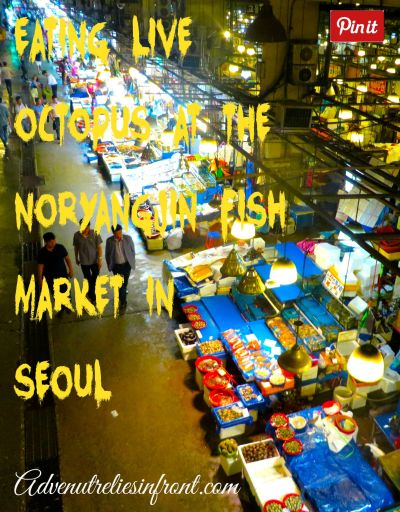 Noryangjin Fish Market live octopus seoul south korea