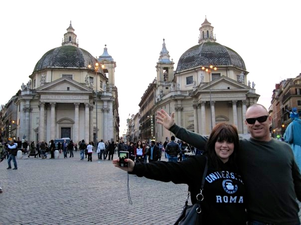 Visiting Rome while on exchange in France in 2009.
