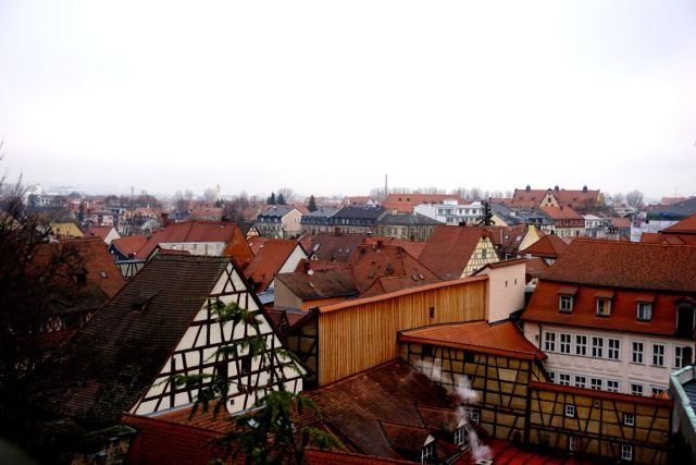 The view of Bamberg from the Rose Garden. Imagine how amazing this would be when the sun is out!