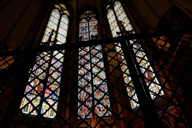 Is Cologne Worth Visiting? stained glass inside