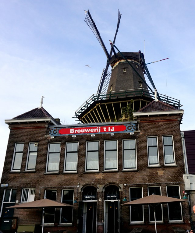 what to do in amsterdam bicycle tour windmill brewery