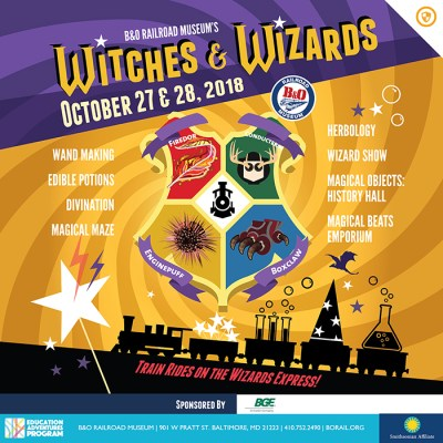 GIVEAWAY: Witches & Wizards Weekend at the B&O Museum