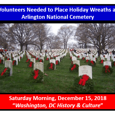 Volunteers Needed to Place Holiday Wreaths at Arlington National Cemetery